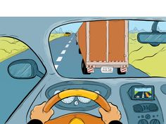 You're at the wheel in this situation, following a tractor trailer that has been traveling way below the speed limit. You finally have room to pass and see a bus pulled over up ahead. What would you do? Visit IKnowEverything for safety tips behind the wheel.
