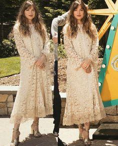 Dakota Johnson Style, Dakota Mayi Johnson, Dress Skirt, Lace Skirt, Lace Dress, Jamie Dornan Interview, Woman Crush, Her Style, Street Style