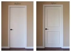 Plain White Interior Doorsinstant Two Panel Raised Door Moulding Kit Traditional Tifave