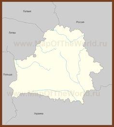 Контурная карта Белоруссии