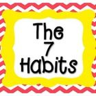 Want a GREAT way to display the 7 Habits of Happy Kids based upon the Leader in Me program? This is a set of chevron themed posters I created to do...