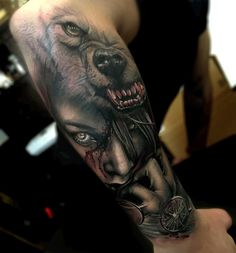 Little Red Riding Hood http://tattooideas247.com/little-red-riding-hood-2/