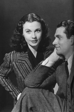 Vivien Leigh and husband, Laurence Olivier.