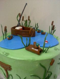Gone Fishing Cake cakepins.com