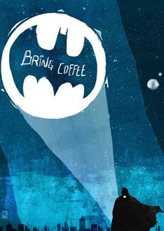 Batman + coffee . Perfection. Thanks @lucreciasalazar