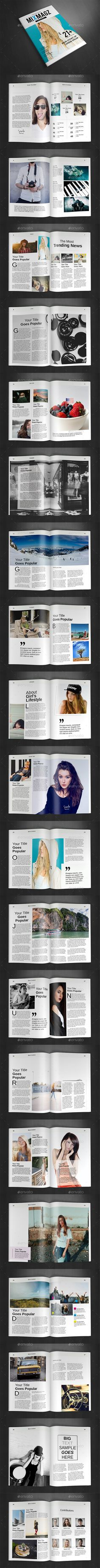 A4 Magazine Template InDesign INDD