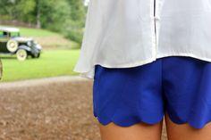Scalloped Shorts - Memento Boutique colors available mint, coral and cobalt blue