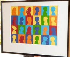 pop art silhouettes: extended family--grandparent gift ??