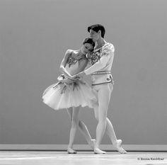 Xander Parish and Kristina Sharpen in a performance of Balanchine's Diamonds pas de deux at the Prix de Lausanne - Photo by Emma Kauldhar