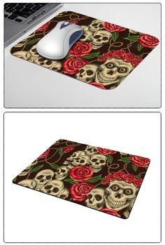 Lusso misura stampa personalizzata hot skull design personalizzato gamer gaming comfort optical laser antiscivolo pc mouse pad