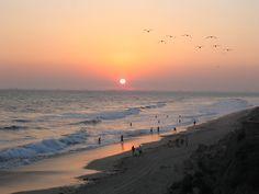 Sunset at Huntington Beach - Orange County, California - Wikipedia, the free encyclopedia