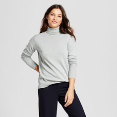 Women's Turtleneck Sweater - A New Day Gray Xxl