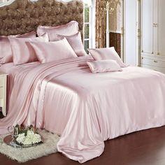 Suede Rose Silk Bed Linen