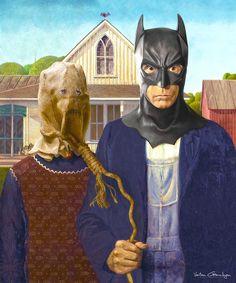I Transform Famous Paintings Into Batman Pop Art: American Gotham