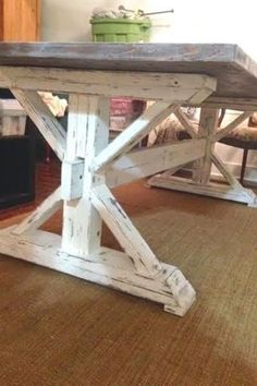 27 Perfect Brilliant Farmhouse Kitchen Table Design Ideas And Makeover. If you are looking for Brilliant Farmhouse Kitchen Table Design Ideas And Makeover, You come to the right place. Rustic Farmhouse Furniture, Farmhouse Table Plans, Farmhouse Dining Room Table, Rustic Table, Farmhouse Design, Outdoor Farmhouse Table, Farmhouse Ideas, Dining Rooms, Country Furniture