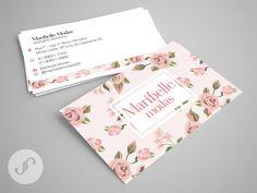 Modelo de cartão de visitas criado para a loja de roupas femininas Maribelle Modas. #juliafelixdesign