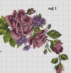 Flower Patterns, Hand Embroidery, Cross Stitch Patterns, Floral, Flowers, Salons, Jewellery, Cross Stitch Rose, Easy Crafts