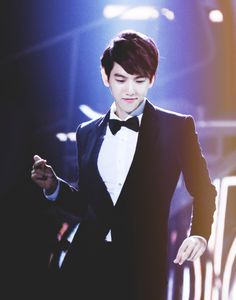 yet another picture of baekhyun rockin' it in a tux ♡ #exo