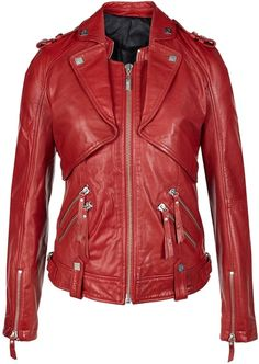 Wow I love this jacket!!   KARL LAGERFELD Red Jacket - Lyst