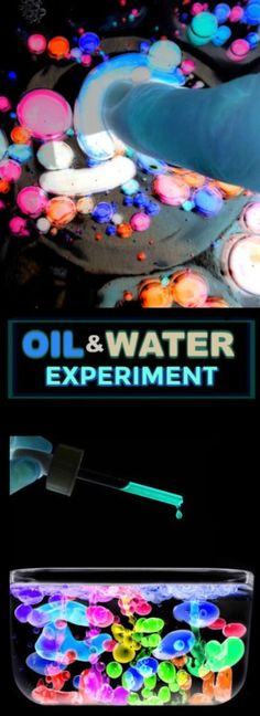AMAZING KID SCIENCE: Glowing oil & water experiment. My kids were in awe!