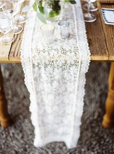 sweet lace table runner.