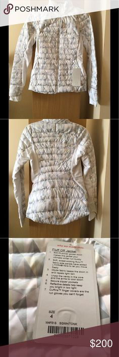 Lululemon Fluff off stained glass down jacket New with tags , lightweight , lots of zippers for ventilation . ❌Price firm lululemon athletica Jackets & Coats