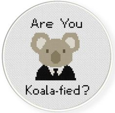 INSTANT DOWNLOAD Stitch Koalafied PDF Cross Stitch Pattern Needlecraft ----------------------------------------------------- Pattern: