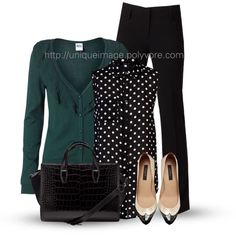 A fashion look from February 2013 featuring Vero Moda cardigans, Miso blouses y Adrianna Papell pants. Browse and shop related looks. Office Fashion, Work Fashion, Fashion Outfits, Fashion Trends, Fashion Looks, Fall Outfits For Work, Summer Outfits, Professional Attire, Work Wardrobe