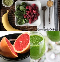 Green Smoothie for Weight Loss: Fall Edition – Pink Grapefruit, Red Raspberries, & Baby Spinach.I will substitute the Baby Spinach with Greens. Weight Loss Smoothies, Healthy Smoothies, Healthy Weight Loss, Healthy Drinks, Smoothie Recipes, Healthy Snacks, Healthy Recipes, Green Smoothies, Healthy Juices