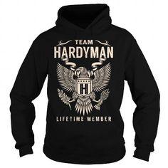 Cool Team HARDYMAN Lifetime Member - Last Name, Surname T-Shirt T shirts