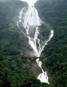 Dudhsagar - Goa/ Karnataka, India - 1,969 feet high, 600 meters