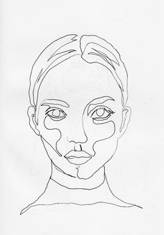 """0xm: """" Continuous Line Drawing By me, fro more click on here """""""