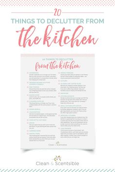 Free printable kitchen decluttering checklist. Get your kitchen decluttered and organized! / #homeorganization #decluttering #organizationprintable #declutteringchecklist #kitchenorganization Refrigerator Organization, Kitchen Cabinet Organization, Kitchen Organization, Organization Hacks, Organizing Ideas, Declutter Your Life, Cooking Utensils, Brush Cleaner, Getting Organized