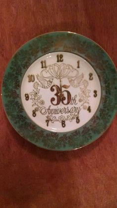 Anniversary Clock - 35 Years in Home & Garden, Home Décor, Clocks | eBay