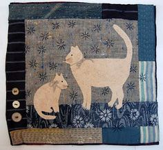 Charming  Patchwork and appliqué wall hanging.