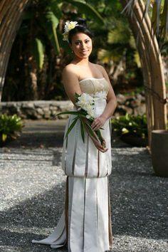 Island Beauty Island Wear, Island Outfit, Polynesian Wedding, Polynesian Designs, Bridal Gowns, Wedding Dresses, Hula Girl, Different Dresses, Gorgeous Wedding Dress