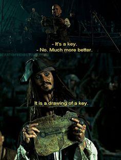 """""""Es ist ein Schlüssel."""" """"Nein, viel besser...es ist eine Zeichnung von einem Schlüssel."""""""