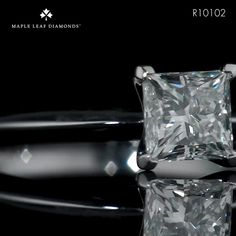Made from platinum and ethically sourced natural Canadian diamonds. Available in and carat size.
