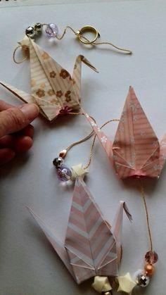 Origami crane decoration