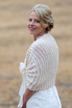 Knitted bridal bolero, lovely!.