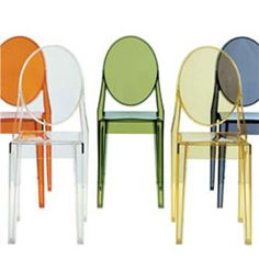 Kartell Victoria Ghost Chair (Set of 4) - Style # 4857, Contemporary Dining Chairs & Kitchen Bar Stools | SwitchModern