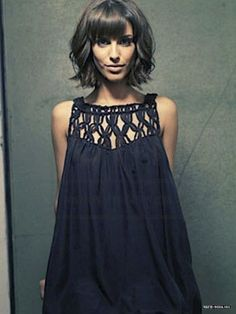 assymetric long bob with fringes - Google Search
