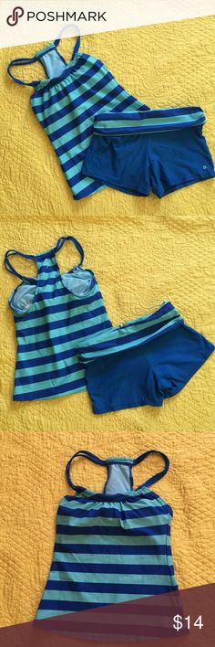 Swimsuit Two piece halter top and boy shorts swimsuit in good used condition, Swim