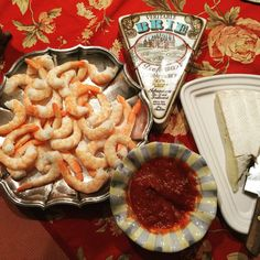 Before Christmas Eve dinner -shrimp and Brie