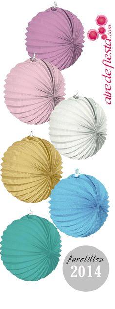 Echale un vistazo a los nuevos farolillos de papel en colores pastel de esta temporada. Serán el adorno ideal para tu boda, bautizo o comunión. http://www.airedefiesta.com/list/224/0/2/1/1/FAROLILLOS-Y-POMPONES.htm