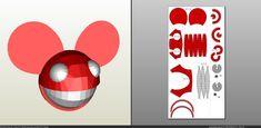 pdo file template for Music - Helmet +FOAM+. Titan Helmet, Dead Mouse, Helmets, Origami, Death, Paper Crafts, Symbols, Entertainment, Cosplay