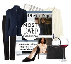 """Olivia Pope"" by shari-s ❤ liked on Polyvore featuring 3.1 Phillip Lim, MaxMara, Prada, Manolo Blahnik, Kendra Scott and MostLovedCharacter"
