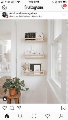 Ikea Spice Rack Hack, Wall Spice Rack, Spice Racks, Floating Nightstand, Floating Shelves, Interior And Exterior, Interior Design, Kids Bath, Diy Furniture