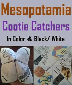 These cootie catchers/ fortune tellers are a great way for students to have fun while learning about ancient Mesopotamia. How to Play and Assembly Instructions are included.These cootie catchers contain the following vocabulary terms: Mesopotamia, Sargon, Cuneiform, Gilgamesh, Ziggurat, Tigris river, Euphrates river, Fertile Crescent