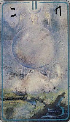 High Priestess Haindl Tarot- Ur ( Aurochs or Rain)